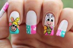 Deko uñas by diana diaz Nail Polish Art, Gel Nail Art, Acrylic Nails, Dimond Nails, French Tip Nails, Manicure E Pedicure, Best Nail Art Designs, Flower Nail Art, Nagel Gel