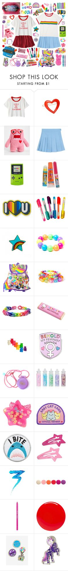 """""""Girls on the playground"""" by pastelprincess152 ❤ liked on Polyvore featuring one spo, Chicnova Fashion, France Luxe, Nintendo, Bonne Bell, Anya Hindmarch, Dylan's Candy Bar, Lisa Frank, claire's and Hello Kitty"""