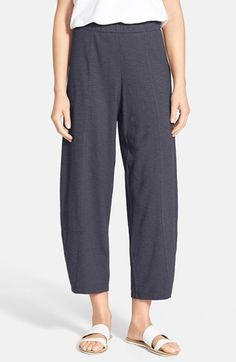 Eileen Fisher Hemp & Organic Cotton Wide Leg Ankle Pants (Regular & Petite) (Online Only) available at #Nordstrom