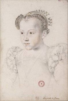 MARIE ELISABETH DE VALOIS (1572-1578) ~ only child of Charles IX of France and Elisabeth of Austria by Francois CLOUET
