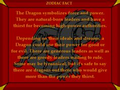 Dragon Fact #1 Chinese Astrology