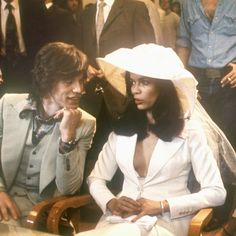 Pin for Later: Married to Fashion: 14 Wedding Looks From Our Favorite Style Stars Bianca Jagger Wearing Tommy Nutter in May 1971