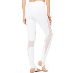 Ayopanda frauen mesh patchwork leggings hohe taille weiß yoga hose atmungsaktiv sporthose für fitness gym steigbügelstrumpfhosen