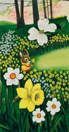 """by Richard Scarry; from """"I Am a Bunny"""""""