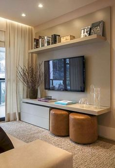 Are you looking for interior decorating ideas to use in a small living room? Small living rooms can look just […] Small Space Living Room, Small Room Design, Living Room Tv, Small Living Room Ideas With Tv, Cozy Living, Tv Room Small, Small Livingroom Ideas, Modern Small Living Room, Tv Wall Ideas Living Room