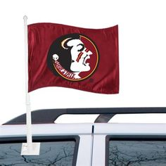 """Every Seminole needs at least two of these! Florida State Seminoles (FSU) 11"""" x 14"""" Garnet Car Flag"""