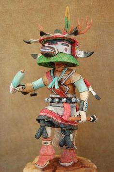 Hopi Deer Kachina by Milton Howard, Hopi Indian, master Kachina carver