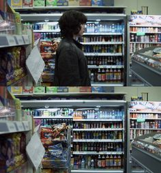 OMG. Are those DORITOS!?  Under the skin (2013) by Jonathan Glazer with Scarlett Johansson