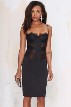 Nasty+Gal+Edge+of+the+Night+Sweetheart+Dress+|+Shop+Dresses+at+Nasty+Gal