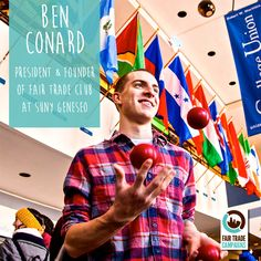 Meet Ben, a member of our National Steering Committee! He is passionate about #FairTrade because of its ability to #empower and connect both the consumer and producer even from worlds apart!