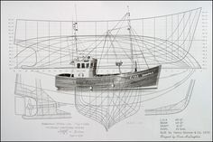 fishing boat blueprints - Google Search