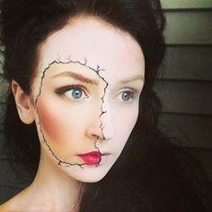 90 Eye chips woman face half skull