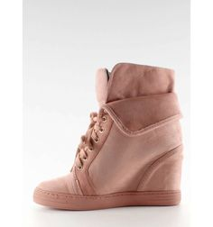 Sneakersy zamszowe B12-22 Pink - Sklep IMMODA.pl Sportowe obuwie damskie Sneakers, Pink, Clothes, Tennis, Outfits, Slippers, Clothing, Kleding, Sneaker