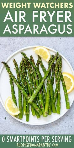 Cooking asparagus in the air fryer requires just 3 simple ingredients and is ready in a fraction of the time as traditional methods. Air Fryer Asparagus will become your favourite side dish, snack or appetiser! Frozen Asparagus Recipe, How To Cook Asparagus, Air Fryer Oven Recipes, Air Fryer Dinner Recipes, Ww Recipes, Lunch Recipes, Healthy Recipes, Healthy Cooking, Passover Recipes