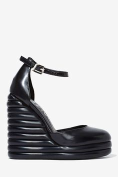Jeffrey Campbell Novice Leather Wedge