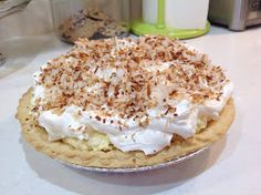 Dorie's Rich & Easy Coconut Cream Pie  Brrrr...It's cold outside. A chilly 20 degrees. So what do you do when it's that cold out? ...