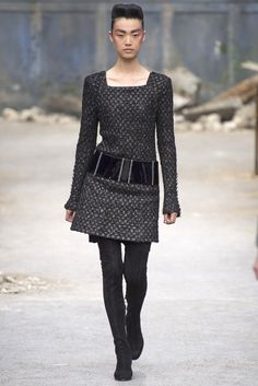 Chanel Autumn Winter 2013/2014....love the dress, can live without the pants things