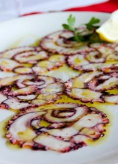 Octopus carpaccio........ delish!