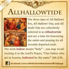 Halloween and All Saint's Day and All Soul's Day Catholic Theology, Catholic Religion, Catholic Quotes, Catholic Prayers, Catholic Saints, Roman Catholic, Catholic Traditions, Catholic Answers, Bible