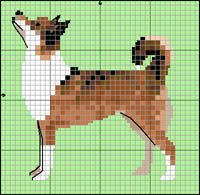 Norsk Lundehund Cross Stitch Embroidery, Cross Stitch Patterns, Knitting Patterns, Dog Crafts, Beaded Animals, Bargello, C2c, Fauna, Plastic Canvas Patterns
