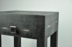 ginger brown,shagreen furniture,bedside table,chevet galuchat, galuchat,