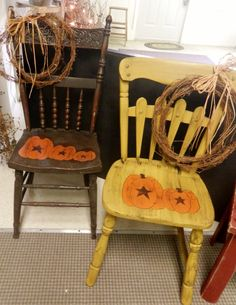 ~ Painted Fall Chairs ~