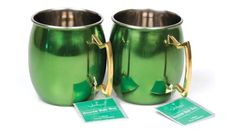 2-Piece Set: Colorful Stainless Steel Moscow Mule Mugs with Brass Handle