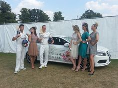 Models from our fashion show at Cheltenham Cricket Festival (styled by me) and Glos cricketers join in