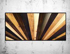 "Stained Wood ""Sunburst"" Headboard - Wall Sculpture - Handmade Wood Headboard by ScrapWoodDesign on Etsy"