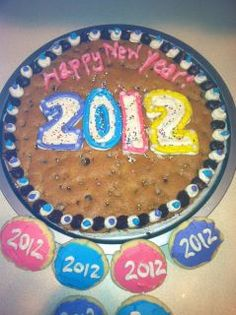 Happy New Years Cookie Cake