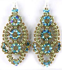 Flamenco Earrings Bead Weaving Kit - Beads Gone Wild - 6 Beaded Earrings Patterns, Jewelry Patterns, Bead Earrings, Beading Patterns, Beaded Jewelry, Earrings Online, Diy Jewelry, Jewelry Accessories, Vintage Jewelry