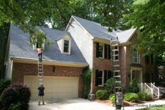 After photo of a recent roofing project in Cary, NC with a GAF Timberline HD shingle  in Pewter Gray.