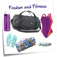 Fashion and Fitness by bc-brown on Polyvore featuring Speedo, Maslin & Co. and TYR