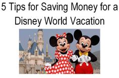 So you know you'd like to go to Disney World but not sure you can afford it? Let me tell you my 5 tips on how you can save $ to plan your DREAM Walt Disney World Resort Vacation! Easy things you can do now that will put money in your pocket so you can start planning! You can do this!