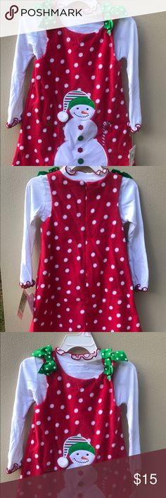 NWT Cute Christmas Brand new Christmas/Winter dress Bonnie Jean Dresses Casual