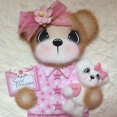 ELITE4U-Laura-PAJAMA-BOUTIQUE-GIRL-Tear-BEAR-Premade-Scrapbook-3paperwishes