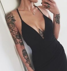 tattoo placement under breasts