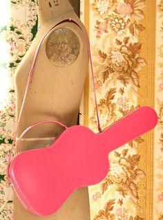 MOSCHINO Pink Guitar Purse