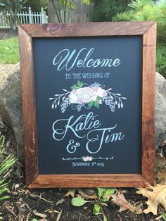 Rustic Framed Hand Painted 16x20 Chalkboard by TimberAndType