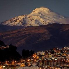 Quito, Ecuador, and Cayambe volcano