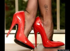 Sexy red high heels
