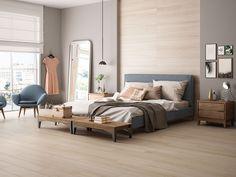 Avery Bed with Hudson in Walnut - Modern Bedroom Furniture - Room & Board Modern Dresser, Modern Bedroom Furniture, New Furniture, Entryway Furniture, Room And Board Furniture, Furniture Factory, Modern Bedding, Home Bedroom, Bedrooms
