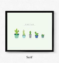 Cactus print, wall art, inspirational quote, wall decor, minimalist poster,office decor