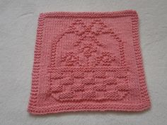 Flower Basket Dishcloth by bubweez2745645 | Knitting Pattern - Looking for your next project? You're going to love Flower Basket Dishcloth by designer bubweez2745645. - via @Craftsy