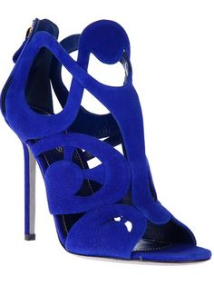 SERGIO ROSSI Sandália Azul.