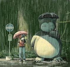 Pokemon and Ghibli mashup