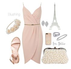 """""""Blushing"""" by debbie-michailides ❤ liked on Polyvore featuring Merci Gustave!, Miss Selfridge, even&odd, Mudd, MICHAEL Michael Kors, Blue Nile and Humble Chic"""
