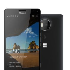 Lumia 950 XL: 5.7 inch display, 2GHz processor, 20 MP sensor camera.