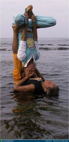 """Yoga Poses Around the World: """"partner yoga - inverted buddha"""". This is how I want to be with my lover when we grow old."""