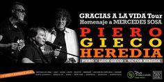 Gracias a la Vida Tour – Piero, Gieco y Heredia unirán sus voces a Inti Illimani Histórico, para realizar un homenaje a la reconocida cantante Mercedes S...